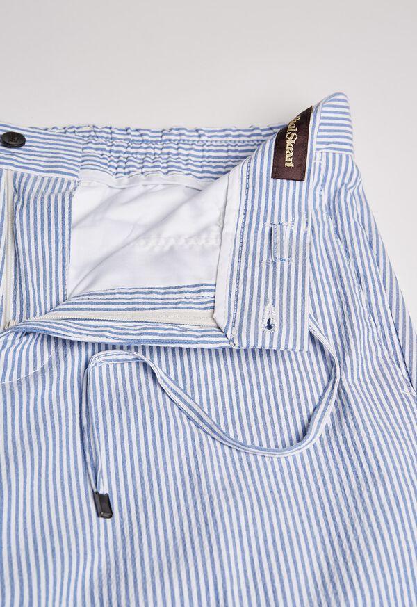 Slim Fit Drawstring Seersucker Pant, image 2