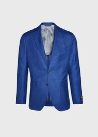 Royal Blue Solid Soft Jacket, thumbnail 1