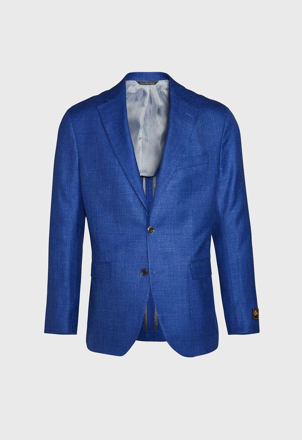 Royal Blue Solid Soft Jacket, image 1