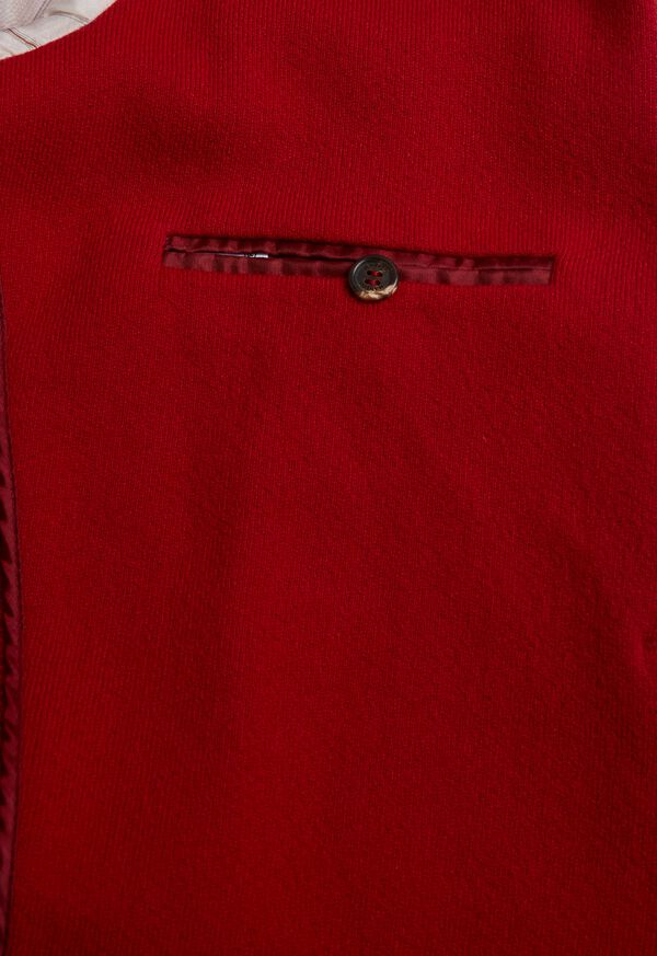 Red Cashmere Military Jacket, image 4