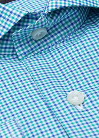 Cotton Mini Check Sport Shirt, thumbnail 2