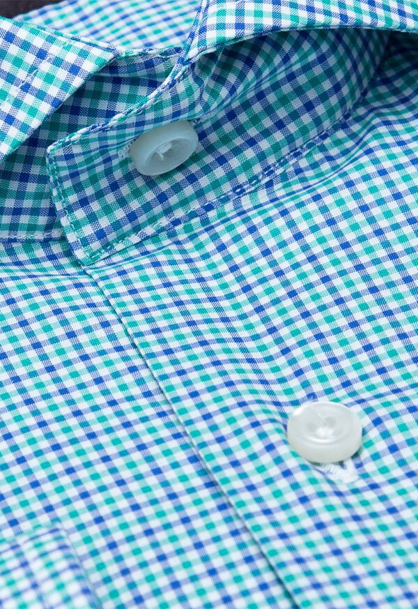 Cotton Mini Check Sport Shirt, image 2