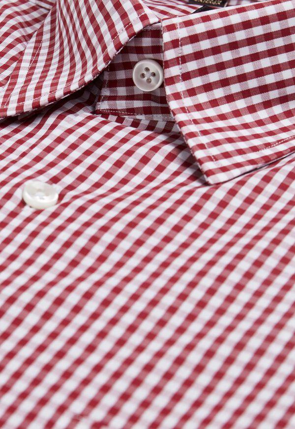 Gingham Cotton Sport Shirt, image 2