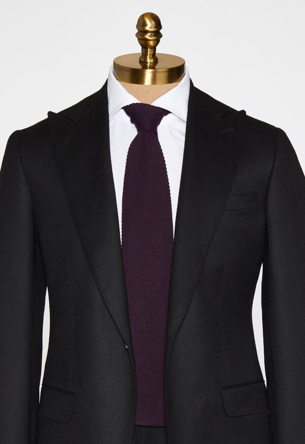 Two Tone Knit  Wool Tie, image 2