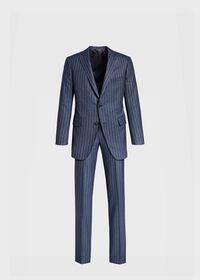 Paul Fit Chalk Stripe Super 120s Wool Suit, thumbnail 1