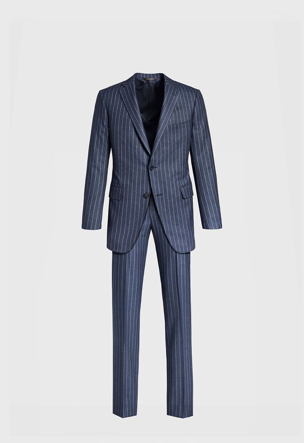 Paul Fit Chalk Stripe Super 120s Wool Suit, image 1