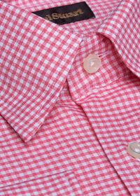 Cotton Gingham Sport Shirt, thumbnail 2