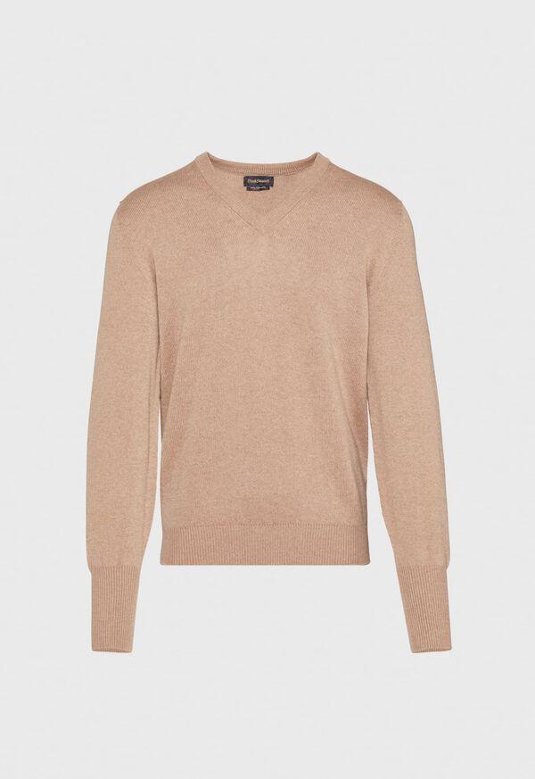 Scottish Cashmere V-Neck Sweater, image 13