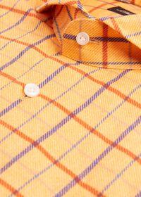 Brushed Cotton Printed Plaid Sport Shirt, thumbnail 2