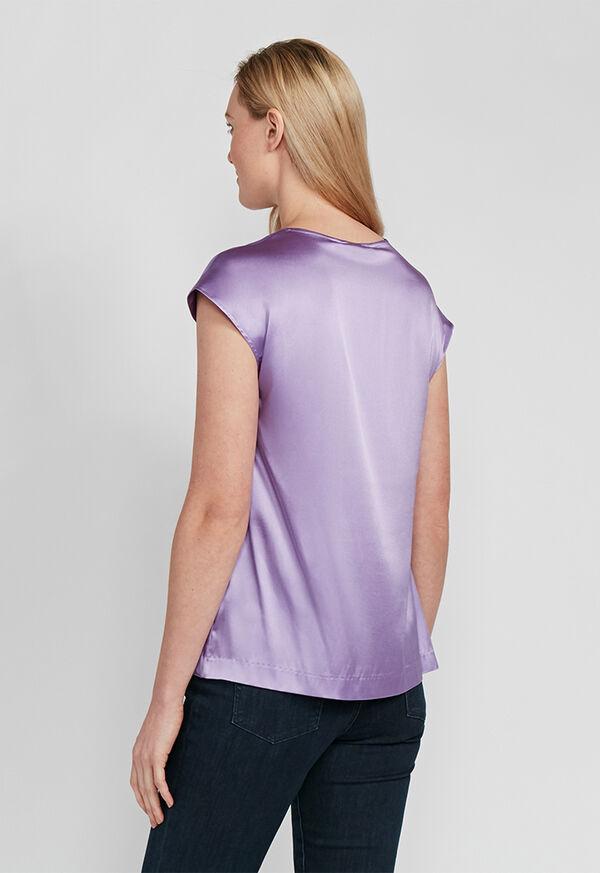 Silk Cap Sleeve Top, image 3