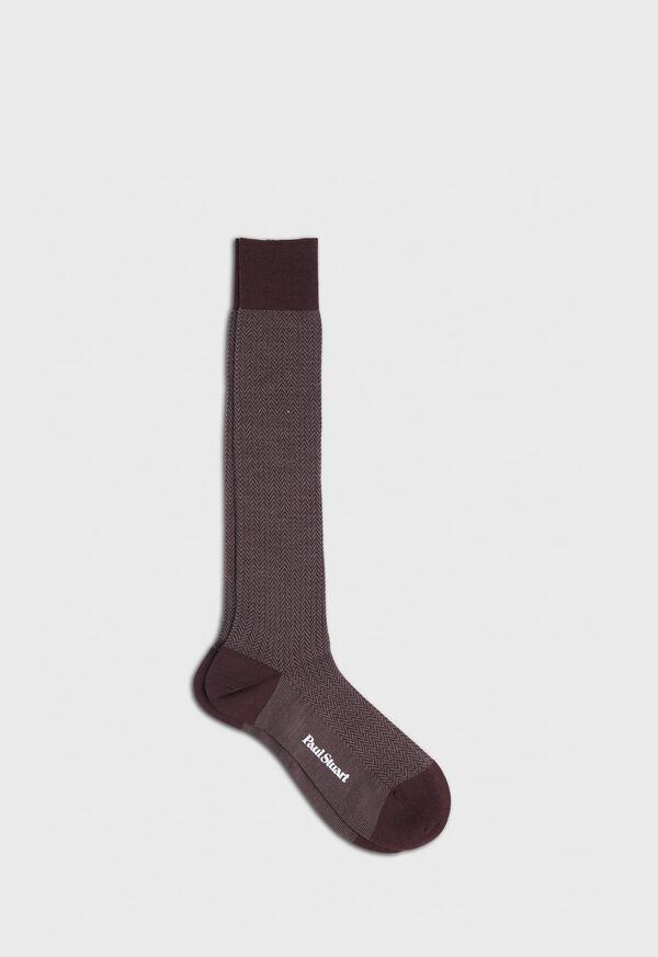 Wool Blend Herringbone Sock, image 2