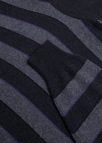 Cashmere Regimental Stripe Turtleneck, thumbnail 2