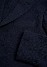 Navy Tonal Seersucker Soft Jacket, thumbnail 2