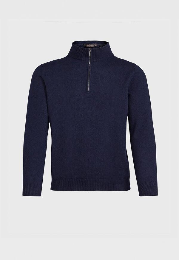 Cashmere Quarter Zip Sweater, image 1