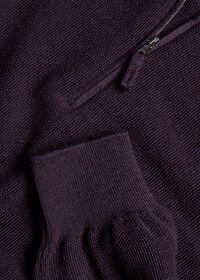 Rice Stitch Quarter Zip Sweater, thumbnail 3