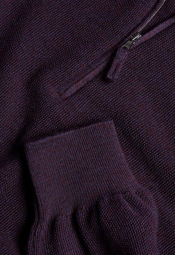 Rice Stitch Quarter Zip Sweater, image 3
