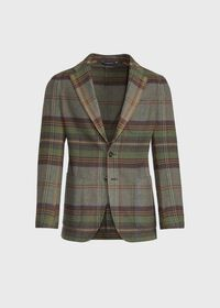 Horseblanket Green Plaid Sport Jacket, thumbnail 1
