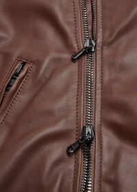 Leather Embroidered Motorcycle Jacket, thumbnail 5