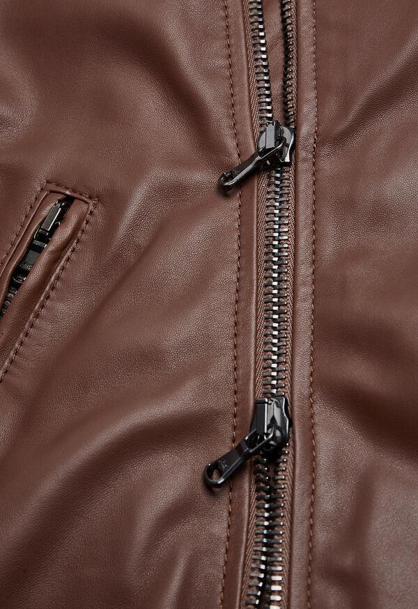 Leather Embroidered Motorcycle Jacket, image 5