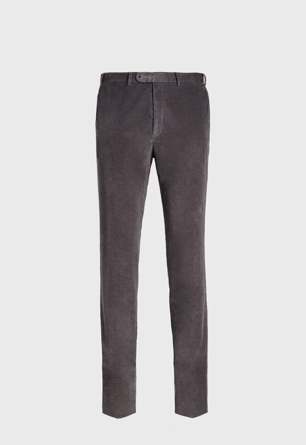 Supima Pin Cord Plain Front Trouser, image 1