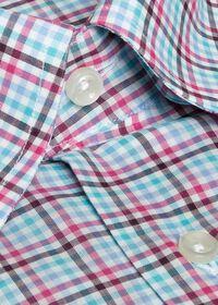 Cotton Multi Color Check Sport Shirt, thumbnail 2