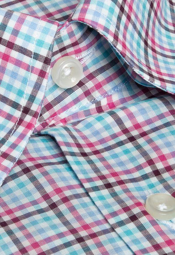 Cotton Multi Color Check Sport Shirt, image 2
