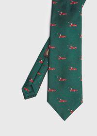 Green Santa Holiday Tie, thumbnail 1