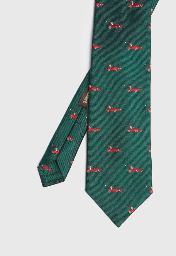 Green Santa Holiday Tie, image 1