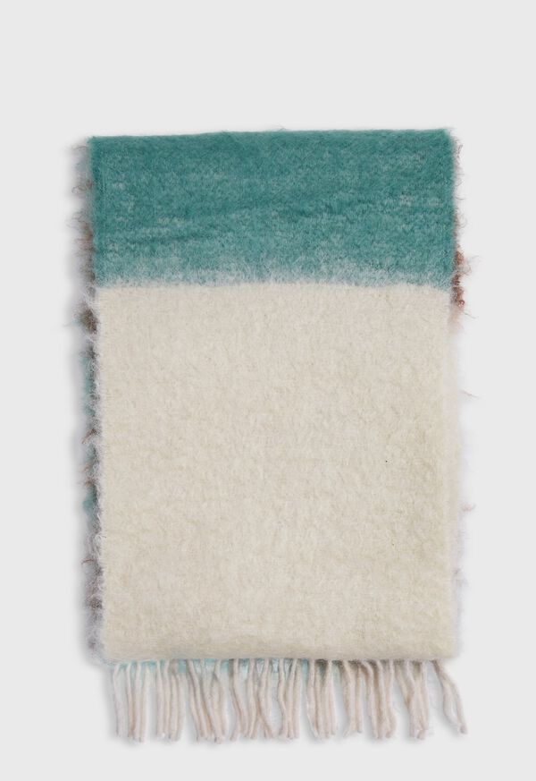 Colorblock Mohair Scarf, image 1