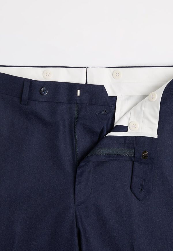 Super 120s Navy Flannel Trouser, image 2
