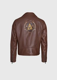 Leather Embroidered Motorcycle Jacket, thumbnail 2