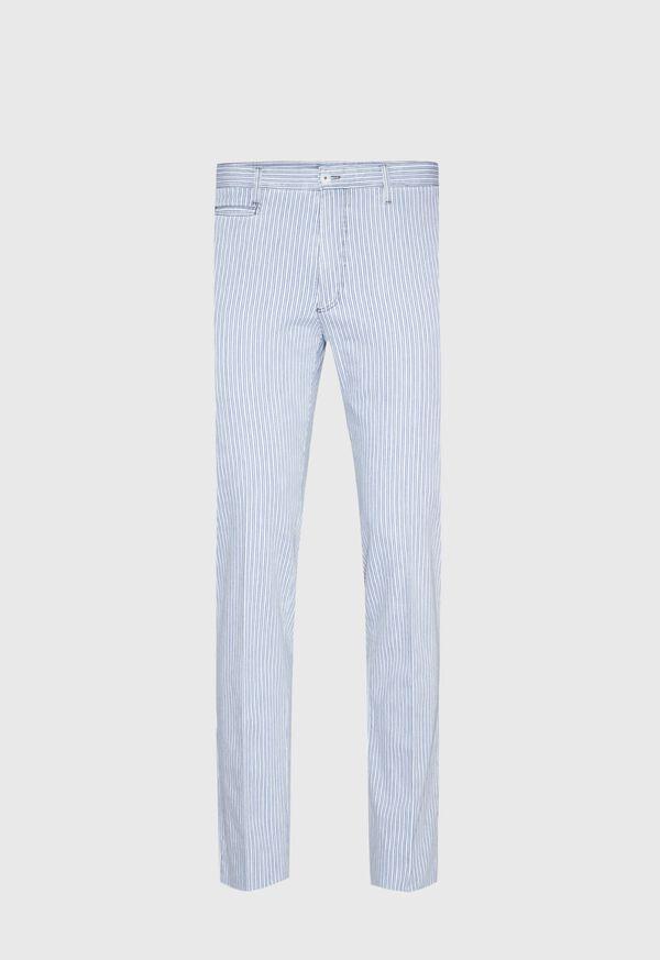 Blue & White Stripe Cotton Pant