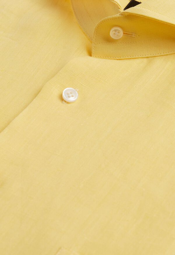 Yellow Long Sleeve Linen shirt, image 2