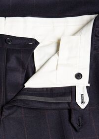 Soft Shoulder Wool Windowpane Suit, thumbnail 7