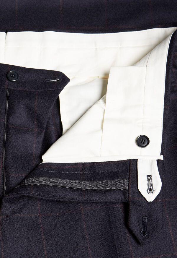 Soft Shoulder Wool Windowpane Suit, image 7