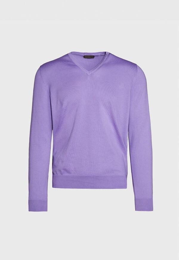 Cotton V-Neck Sweater, image 1