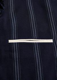 Navy/White Deco Stripe Soft Jacket, thumbnail 3