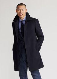 Single Breasted Super 180s Wool Coat, thumbnail 2