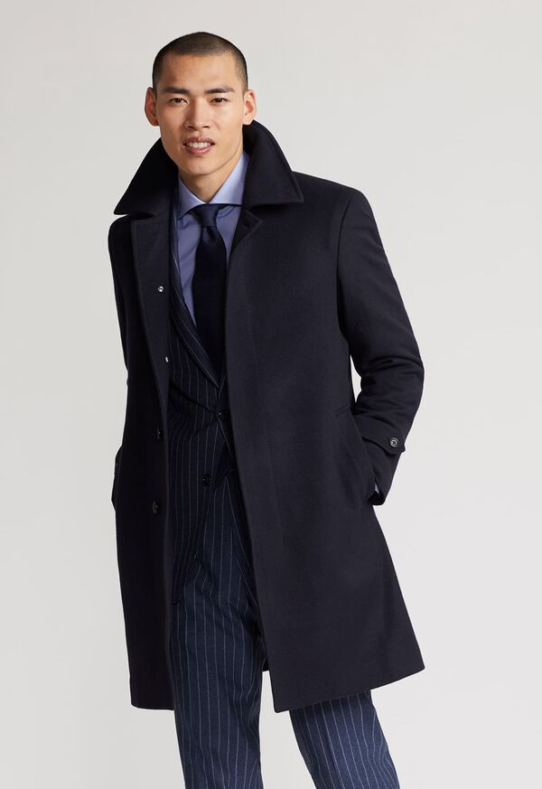 Single Breasted Super 180s Wool Coat, image 2
