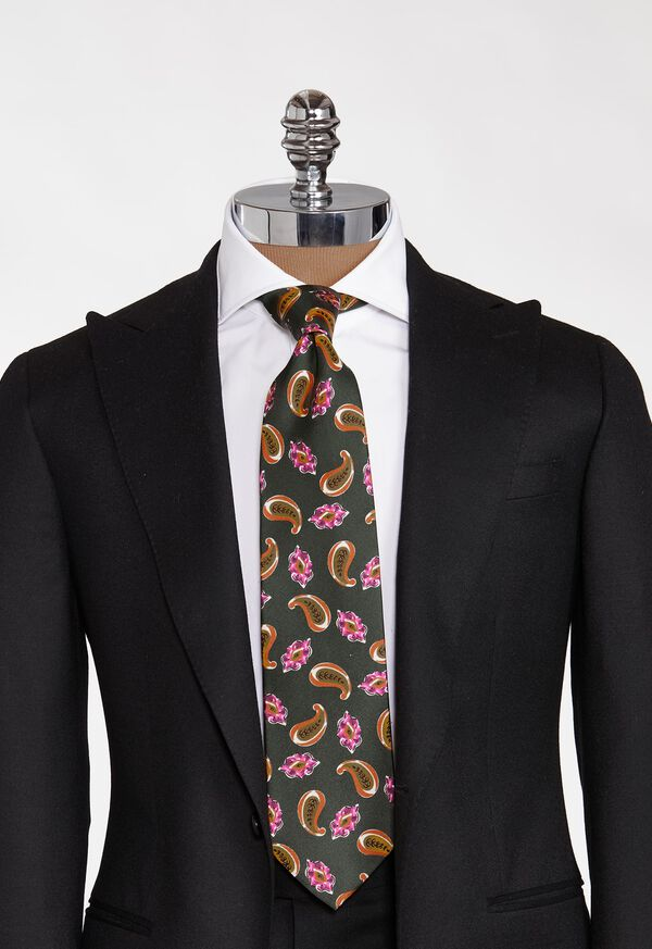 Printed Scattered Paisley Tie, image 2