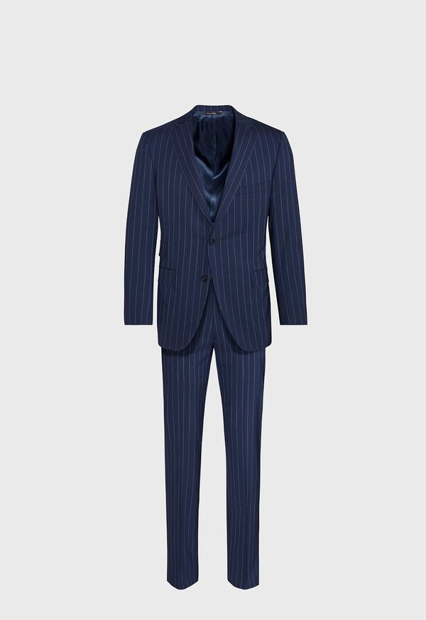 Navy and White Stripe Travel Suit, image 1