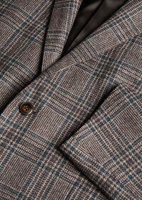 Grey and Brown Plaid Sport Jacket, thumbnail 2