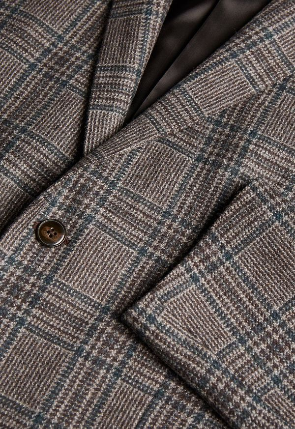 Grey and Brown Plaid Sport Jacket, image 2