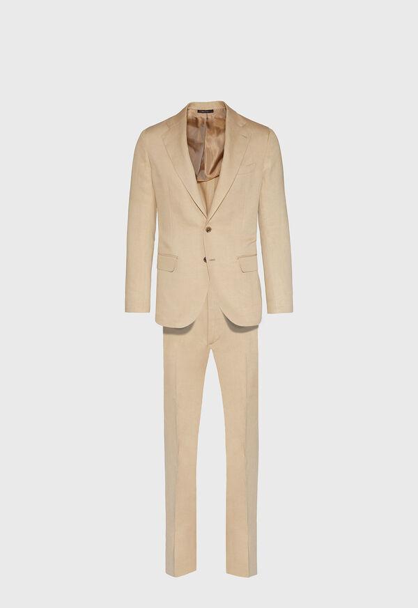 Tan Linen Blend Suit, image 1