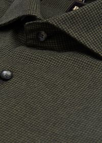 Houndstooth Brushed Flannel Sport Shirt, thumbnail 2