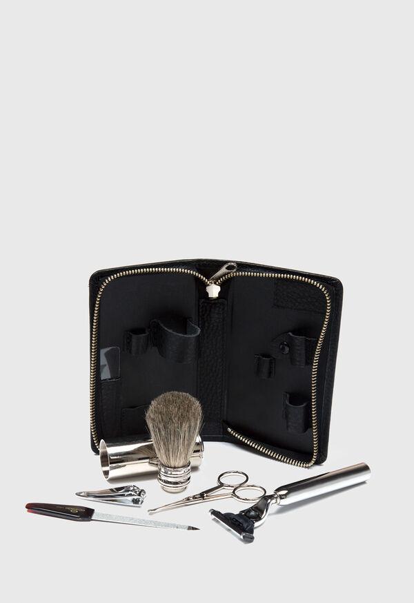Deerskin Leather Travel Shaving Kit, image 3