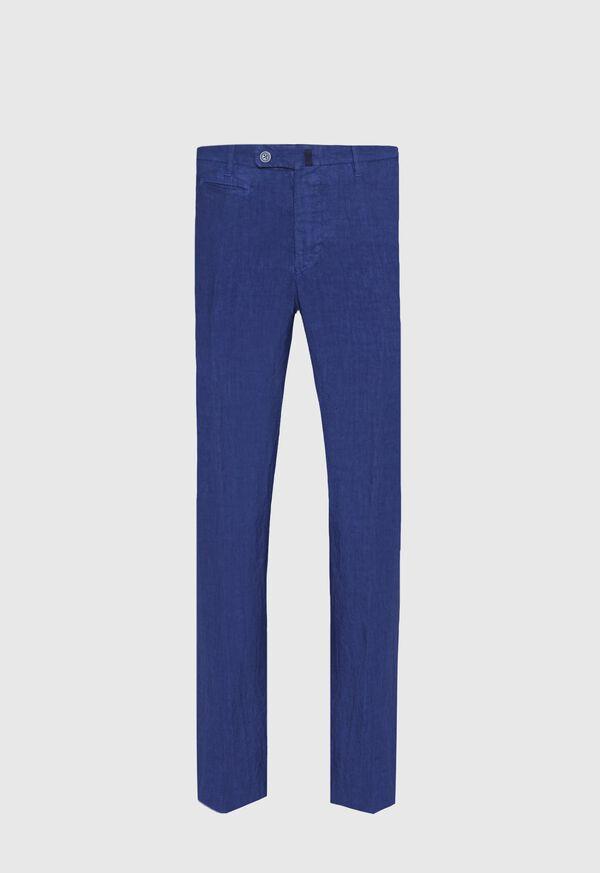 Linen Plain Front Pant, image 1