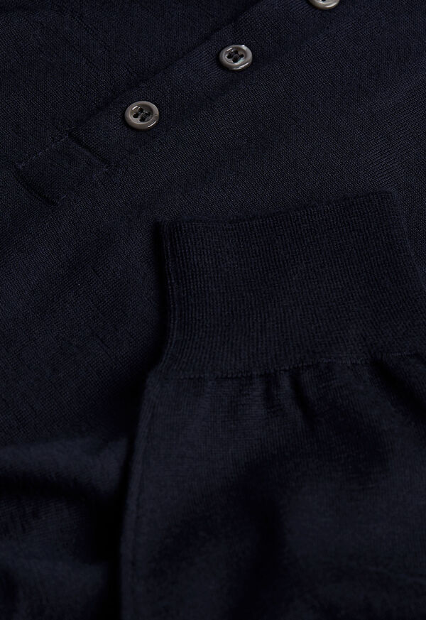 Long Sleeve Cashmere Polo, image 2