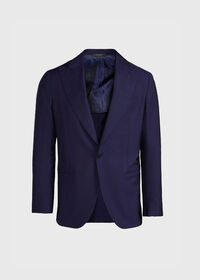 Navy Solid Dinner Jacket, thumbnail 1