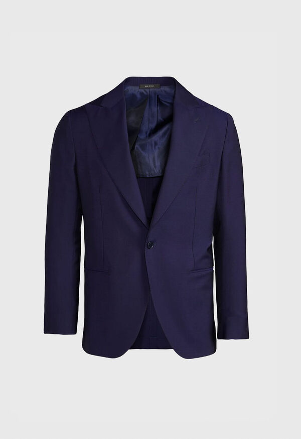 Navy Solid Dinner Jacket, image 1